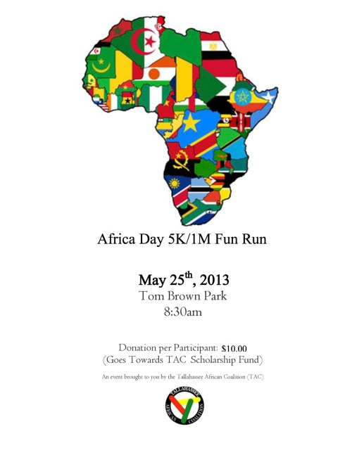Africa Day Flyer 2013